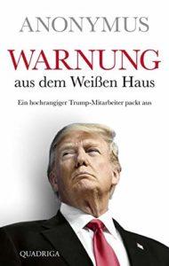 Buchcover Warnung aus dem weissen Haus