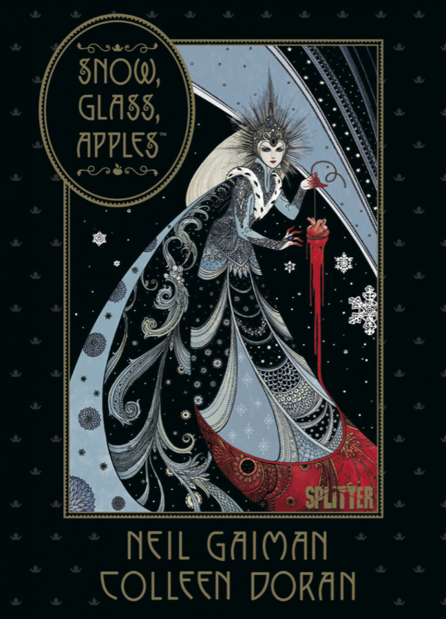 cover snow glass apples